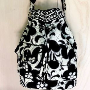 Vera Bradley Drawstring Floral Shoulder Bag